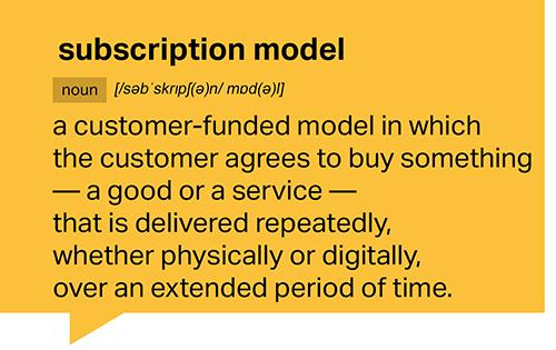 definition subscription
