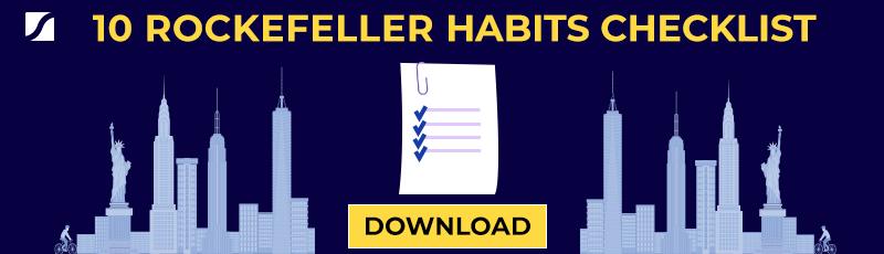 10 rockefeller habits checklist