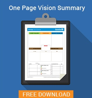One-Page Vision Summary Checklist Download