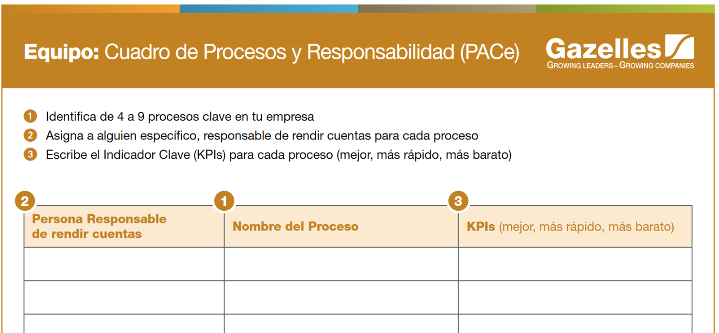 cuadro de procesos y responsabilidad