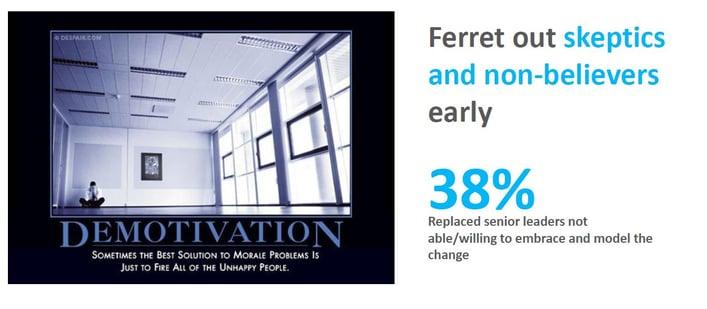 ferret out skeptics culture renovation