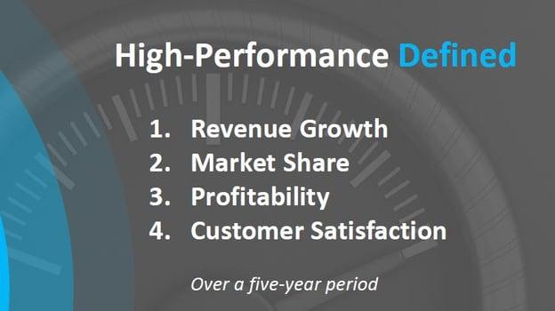 high performing company traits