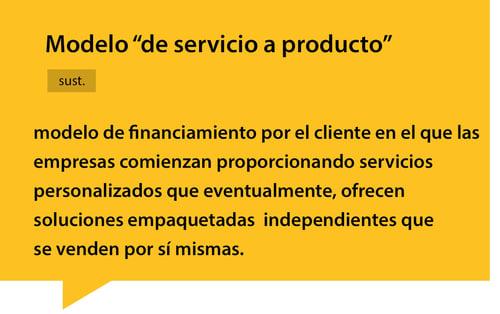 modelo de servicio a producto