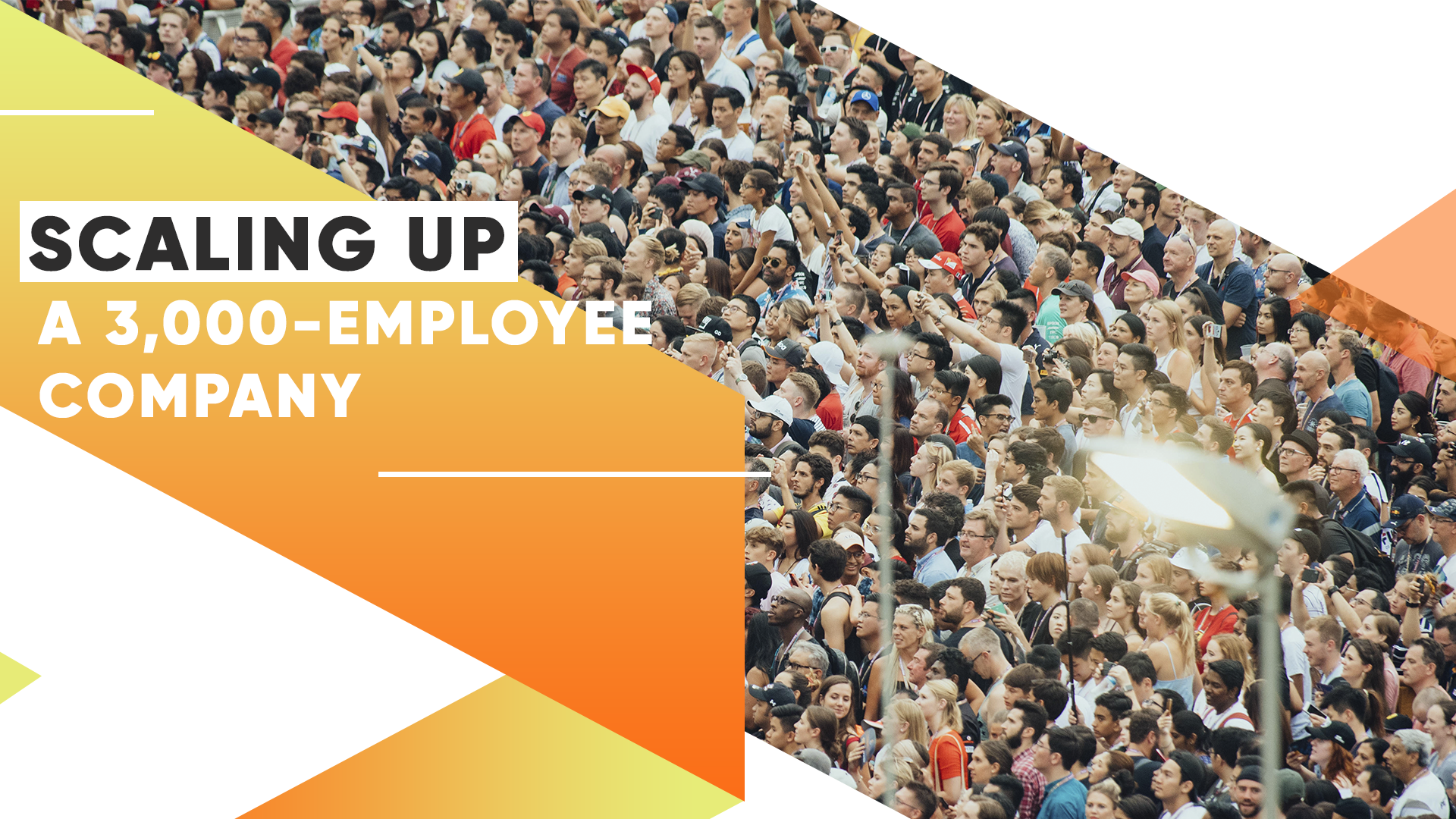 Scaling Up a 3,000-Employee Company