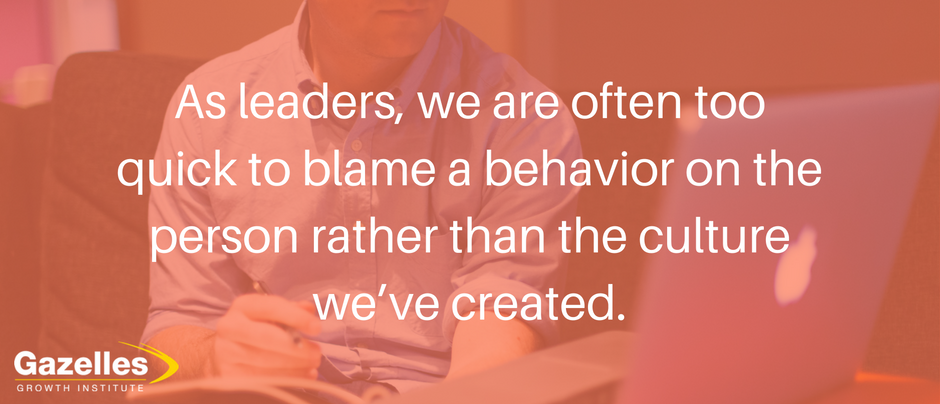 Fix the environment, not the people - 4 levers for affecting the culture.