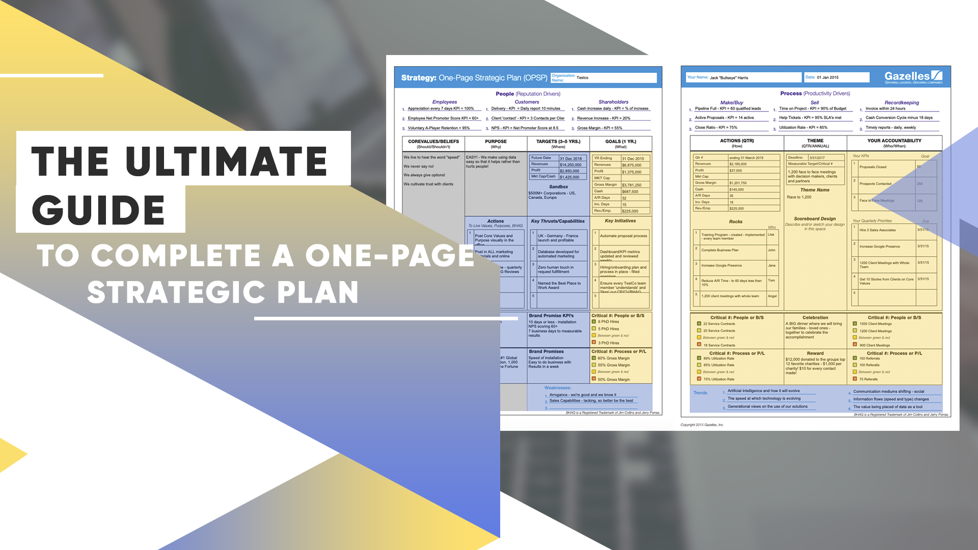 The Ultimate Guide To Complete A One-Page Strategic Plan – Your Fast-Track To Alignment