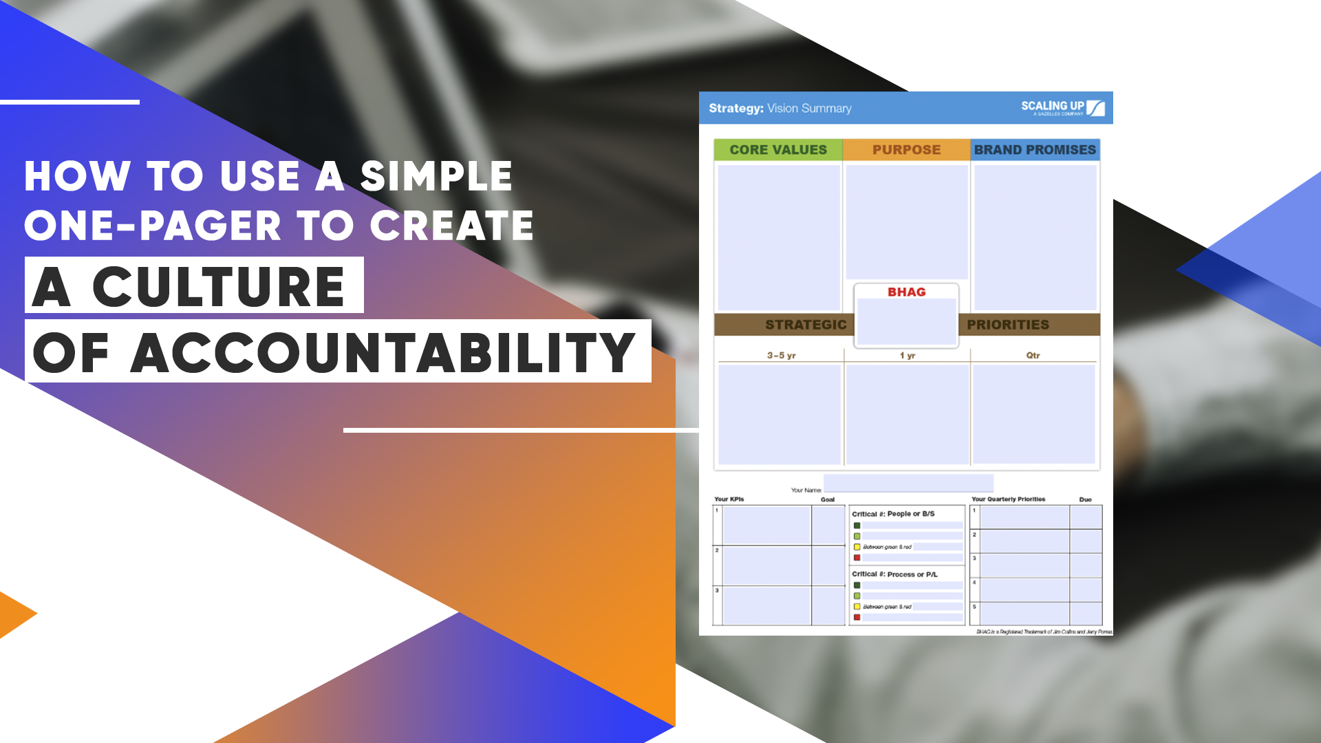 How To Use A Simple One-Pager To Create A Culture Of Accountability